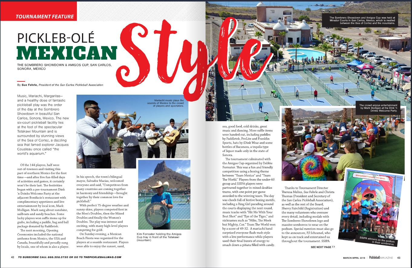 Sombrero Showdown in Pickleball Magazine